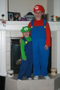 Nick & Brenna a.k.a. Mario & Luigi - Halloween 2010