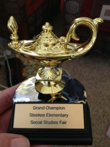 Brenna's Social Studies Trophy - October 24, 2012