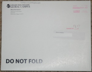 Colorado State University Envelope